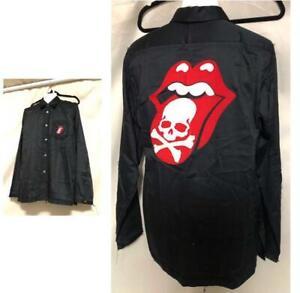 THEATER8 × mastermind × Rolling stones Shirts Black men's Size : L