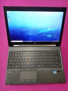 HP 8570w EliteBook laptop I7-3630qm 2.4-3.4Ghz 12GB 128GB/640GB NVIDIA K2200m