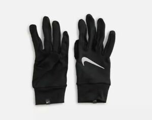 Nike Gloves Mens M New  Dri Fit Accelerate Lightweight Reflective Running Black