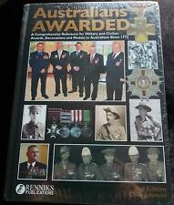 Renniks AUSTRALIANS AWARDED 2nd Edition Hard Cover Book - Awards Honors Medals