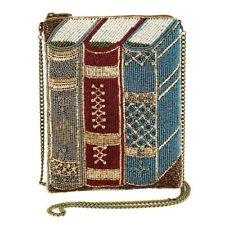 Mary Frances Best Seller mini Books Library Nerd Gold Clutch Bag Handbag NEW
