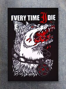 Every Time I Die patch printed textile patch rock metal metalcore hardcore punk