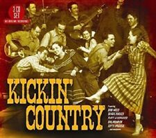 KICKIN'  COUNTRY - BOB WILLS, SPADE COOLEY, BILL MONROE U,A,  3 CD NEUF
