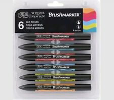Windsor & Newton Brushmarker Mid Tones Set