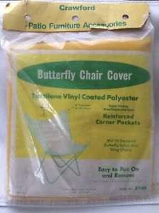 Vintage Yellow Vinyl Butterfly Chair Replacement Cover NOS