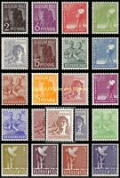 EBS Germany 1947 Allied Occupation - Peaceful Occupations - Michel 943-962 MNH**