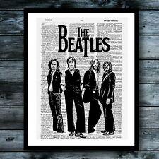 The Beatles Vintage Dictionary Poster Music Wall Decor Modern Art Print