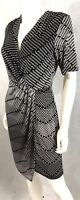 Banana Republic Sheath Dress NEW Stretch Black & White Career Size S/M MSRP $69