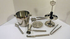Bar Tool Set Stainless Steel with Ice Bucket