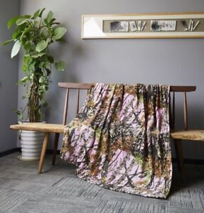"""60"""" x 80"""" Blanket Twin Size The Woods Super Soft Cashmere Throw Pink DCB3002"""