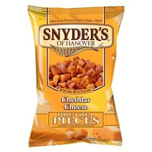 Snyders Pretzel Pieces Cheddar Cheese 125 g Pack of 10