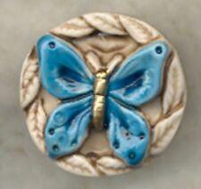 BLUE BUTTERFLY ARTSTONE BUTTON - SC1079