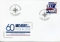 Luxembourg 2017 FDC NSPA NATO Support & Procurement Agency 1v Set Cover Stamps