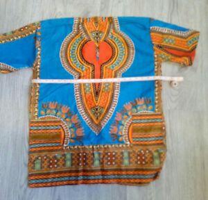 Authentic African Dashiki Tribal Print  Kaftans Shirt Blouse Top. New