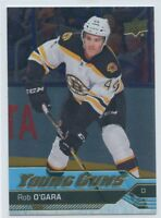 16/17 UPPER DECK YOUNG GUNS SILVER FOIL ROOKIE RC #470 ROB O'GARA BRUINS *51091