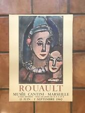 Roualult Musee Cantini-Marseille 1960 Poster