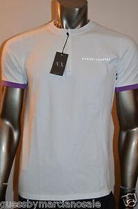Armani Exchange A X Men's Slim Muscle Fit Logo Crew Shirt Top Zip Henley Size M