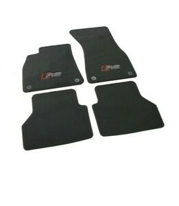 Original Audi RS Premium Textile Velour Floor Mats 4pc Set for RS6 C8 A6 4K 19-