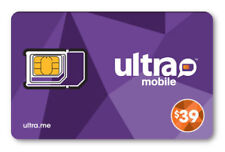 Ultra Mobile $39 Plan for 1 Month Service with Triple Punch Sim Card
