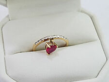 10k Yellow Gold Diamond Heart Unique Ring Size 7 Ring 1.5 Grams - 4412