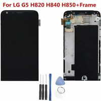 LCD Display Digitizer Touch Screen Glass Assembly Frame For LG G5 H820 H840 H850