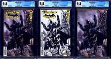 Shadow Batman #4 CGC 9.8 OneStopComicShop Exclusive Set 3 Color B&W Virgin NM/MT