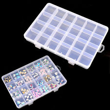 Wholesale Nail Art Tips Gems Decoration Pill Jewelry Empty Storage Case Box