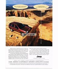 1999 Jeep GRAND CHEROKEE Flame Red 4-door 4x4 Canyonlands NP 1998 Vtg Print Ad