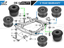 FOR SAAB 95 9-5 4 FRONT REAR SUBFRAME SUB FRAME 2 CENTRE (6 BUSH KIT BUSH) -2005