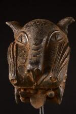 3502 Bronze: Grosse Benin Leopard Kopf Nigeria Africa / Afrika