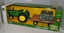 John Deere Big Farm Toy 4020 Tractor Hay Wagon 1/16 Light Sound Ertl Tomy New