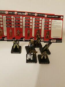 Star Wars Miniatures C-3PO And R2-D2 & Rebel Leader Rebel Team Builder