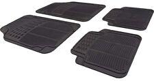 Car Black Rubber Front/Rear Floor Mats Chevrolet Matiz 2005-2011