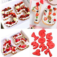 Silicone Numbers Cake Mould Pan Baking Tin Birthday Anniversary Mold Tools