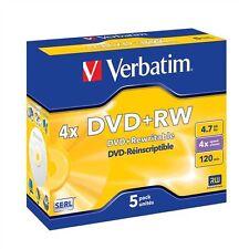 Lot de 4 DVD+RW  NEUFS VERBATIM