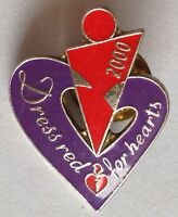 Heart Foundation 2000 Dress For Hearts Pin Badge Rare Vintage (D9)