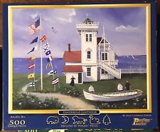 """Pastime Puzzles """"Gingerbread Lighthouse"""" 500 pieces Including Whimsy Pieces"""