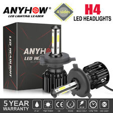 4-lados cree H4 9003 375000 LM 2500W LED faros kit Hi/Lo Beam Bombillas 6000K