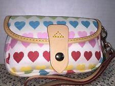 ~Dooney & Bourke*Rainbow Sweethearts Wristlet*Wallet*16050F