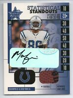 Marvin Harrison 2001 Leaf Rookie and Stars Statistical Standouts Auto Relic