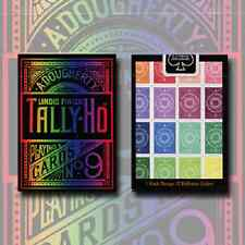 Spectrum Tally Ho Circle Deck by US Playing Card Co - Magic Trick cards red blue