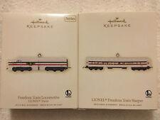 Hallmark Keepsake Ornament LIONEL Freedom Train set of 2 Train series 2007 NEW