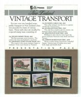 NZ406) New Zealand 1985 Vintage Transport Presentation Pack MUH