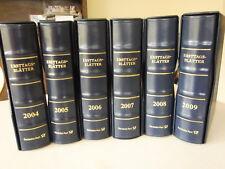 Deutsche Post 6 ETB Alben mit Hüllen und Schuber Aufdruck 2004 - 2009