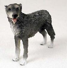 IRISH WOLFHOUND DOG Figurine Statue Painted Resin Figure