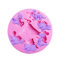 Dinosaurs Silicone Fondant Cake Decor Mould Chocolate Baking Sugarcraft Mold US