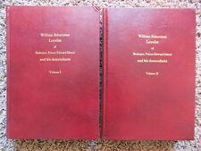 William Schurman, Prince Edward Island, Volumes I and II~ Ross Graves 1973 HC/DJ