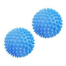 2 Blue Eco Friendly Laundry Washing Machine Tumble Dryer Balls Clothes Softener