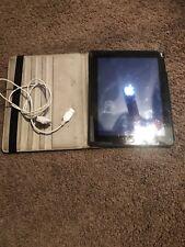 Apple iPad 2 16GB, Wi-Fi, 9.7in - Black With Case/Cord Used Bundle