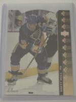 1994-95 Upper Deck UD SP Insert Die Cut #SP-66 Brett Hull St Louis Blues Card